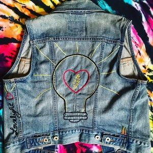 Levi's ❤️ Love💡 Light ⚡️ Hand Embroidered Vest